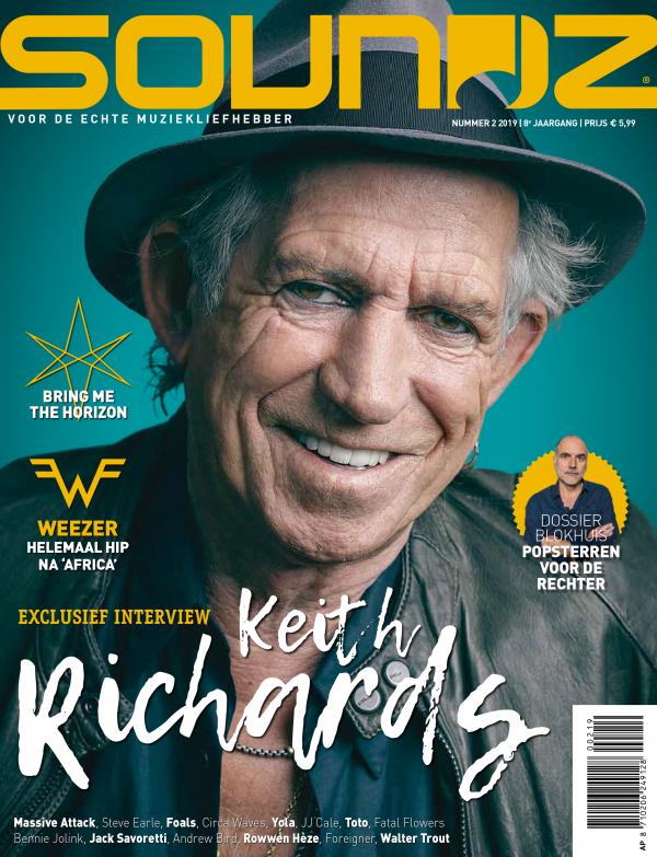 Soundz Magazine cover Keith Richards